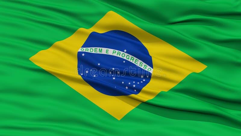 特写镜头巴西旗子 皇族释放例证