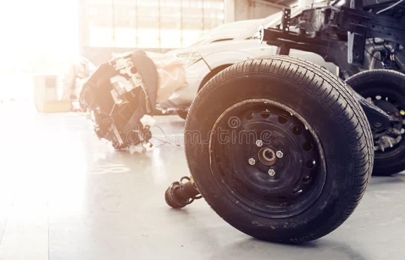 特写镜头轮子和缓冲器 图库摄影