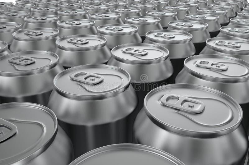 特写镜头铝汽水罐 3d例证 向量例证