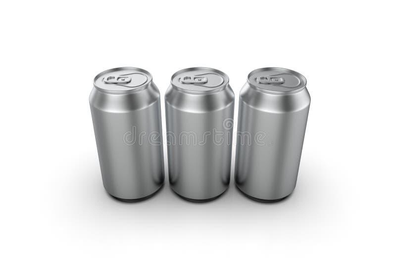 特写镜头铝汽水罐 3d例证 皇族释放例证