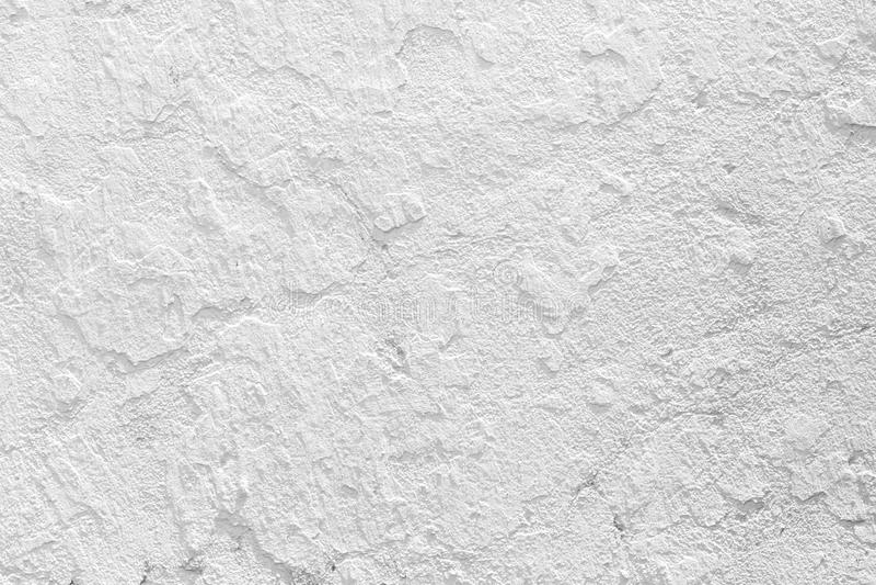 特写镜头难看的东西纹理白色油漆水泥墙壁 免版税库存图片