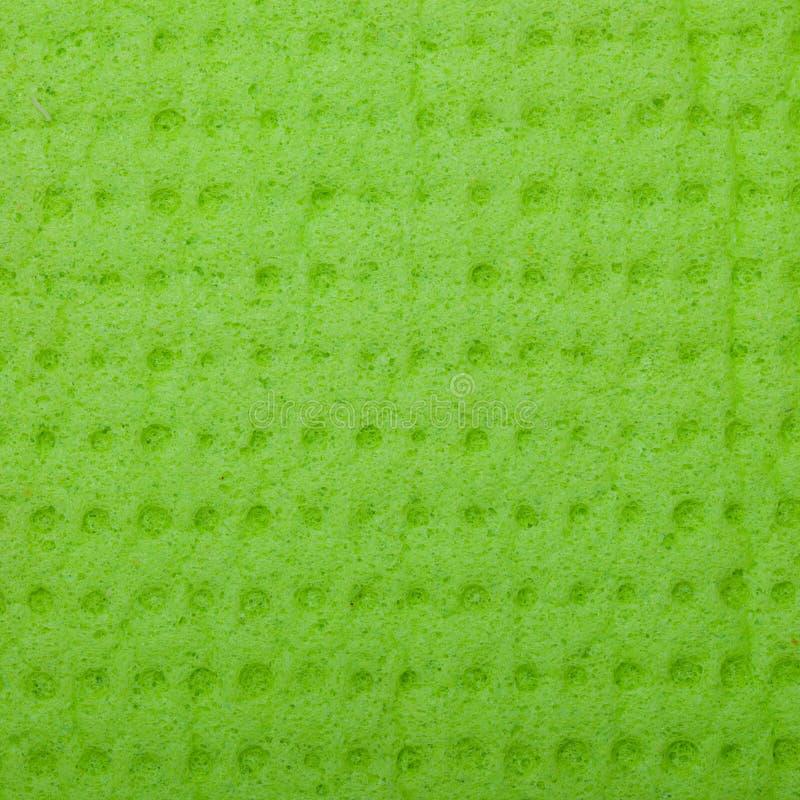 特写镜头鲜绿色海绵背景纹理样式 图库摄影