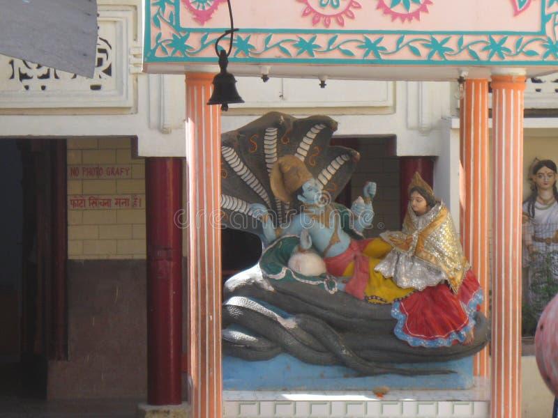 特写镜头Shri Adi巴德里纳特普里寺庙拉克什曼Jhula瑞诗凯诗印度 库存图片