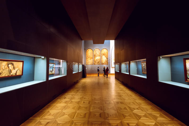 特列季尤欣画廊在莫斯科 内部 免版税库存图片