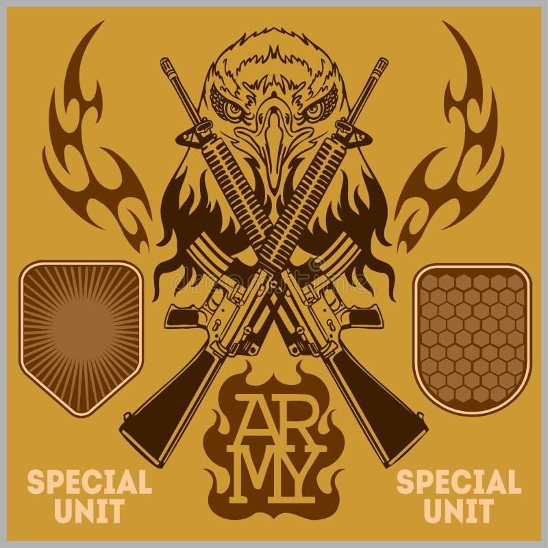 特别单位军事补丁-传染媒介集合 皇族释放例证