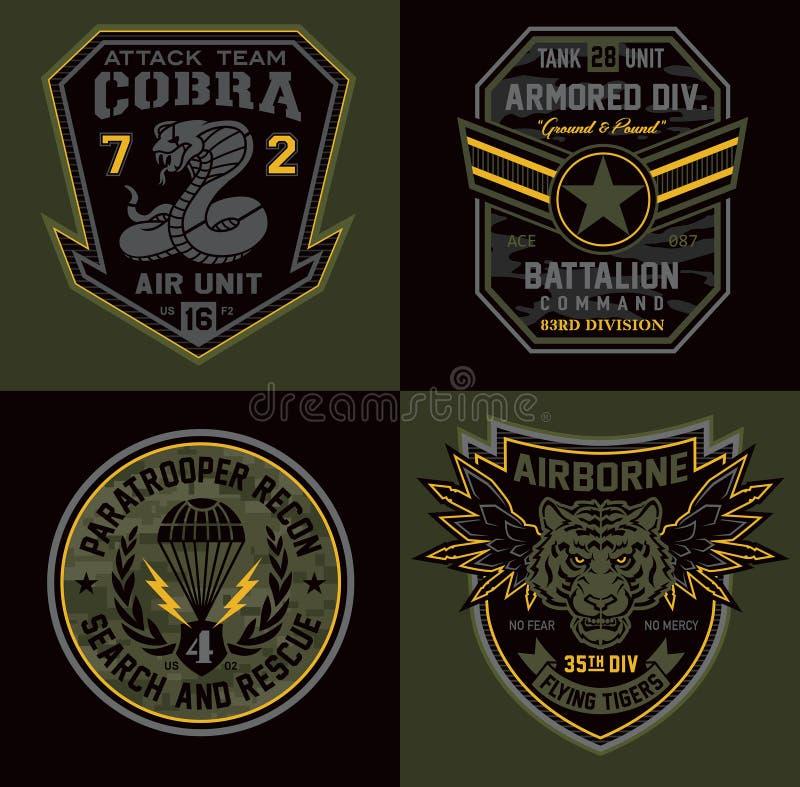 特别单位miltary徽章补丁 库存例证