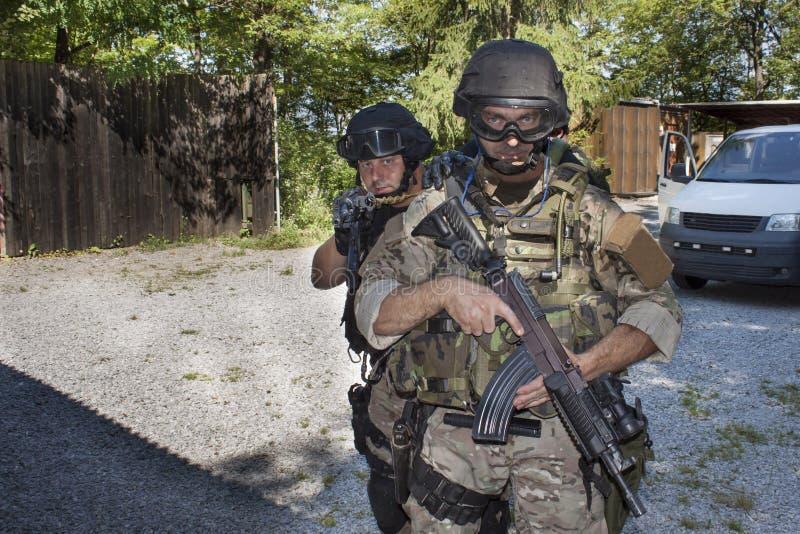 特别反暴力恐怖份子的小队 图库摄影