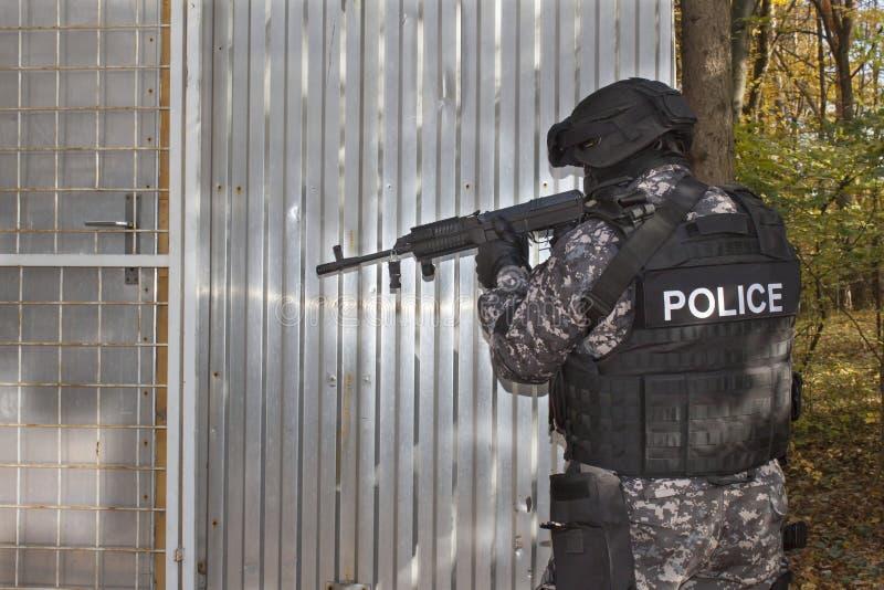 特别反暴力恐怖份子的小队 免版税库存照片