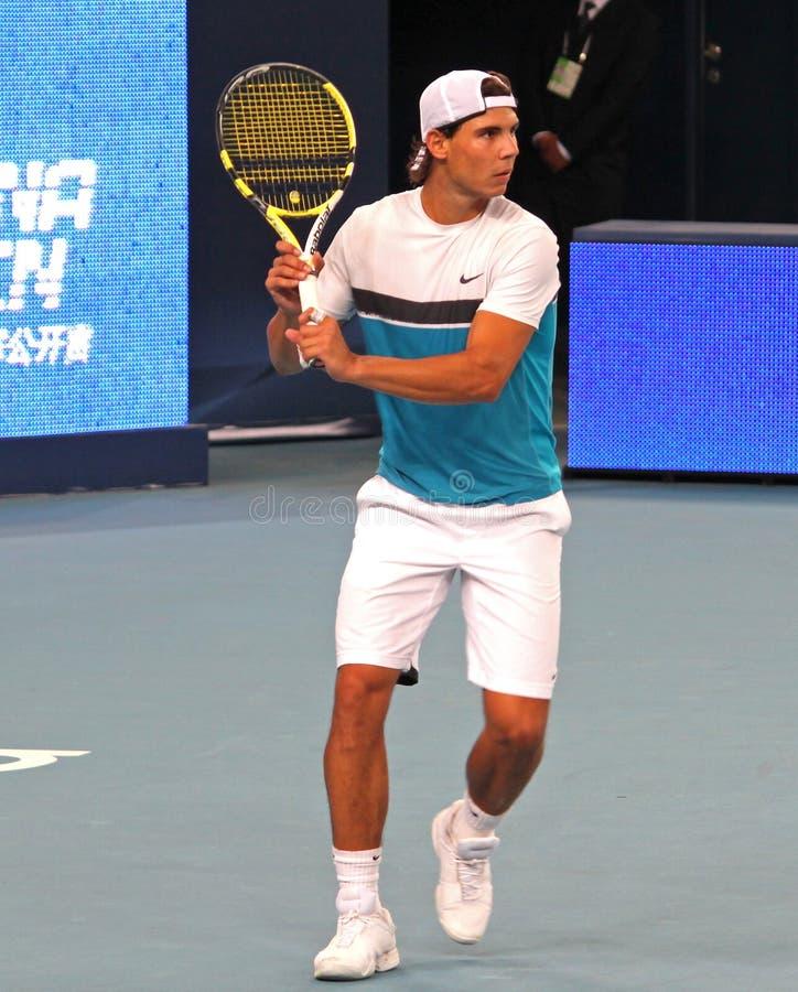 特别是nadal球员专业拉斐尔网球 图库摄影