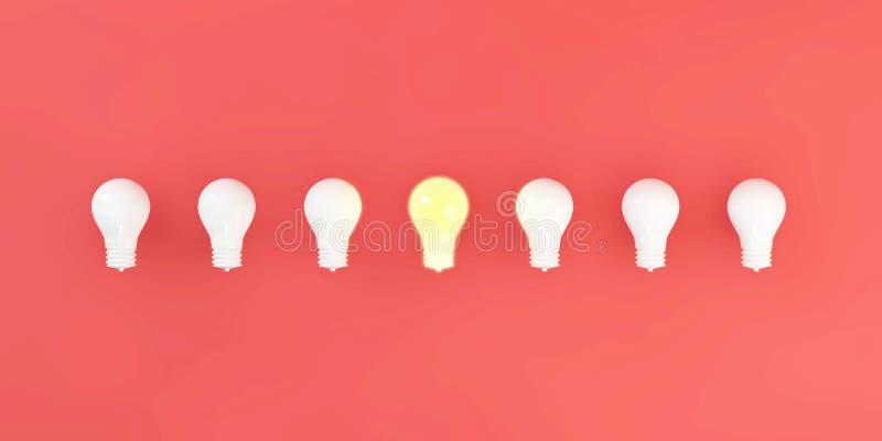 特别独特的电灯泡 库存例证