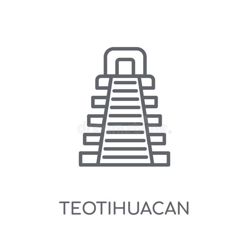 特奥蒂瓦坎线性象 现代概述特奥蒂瓦坎商标概念 库存例证