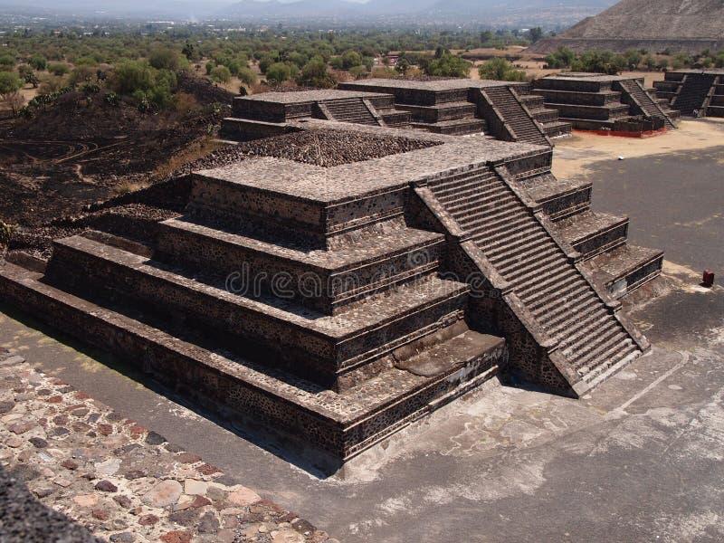 特奥蒂瓦坎,墨西哥,在阿兹台克文化之前的古老哥伦布发现美洲大陆以前文明 免版税库存图片