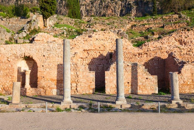 特尔斐古老圣所,希腊 库存图片