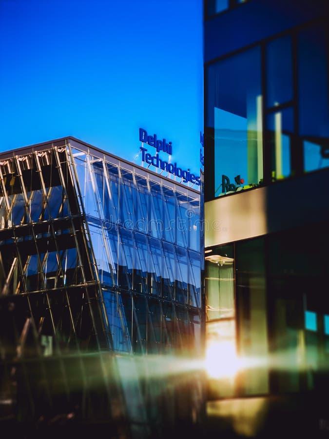 特尔斐技术办公楼 库存图片