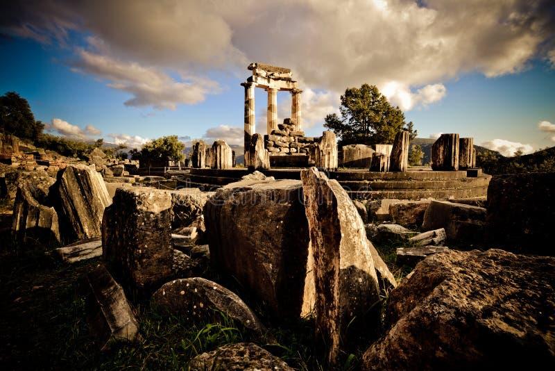 特尔斐,希腊Tholos  库存图片
