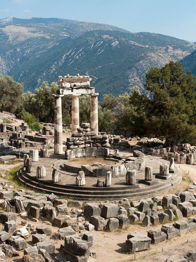特尔斐Tholos寺庙  库存图片