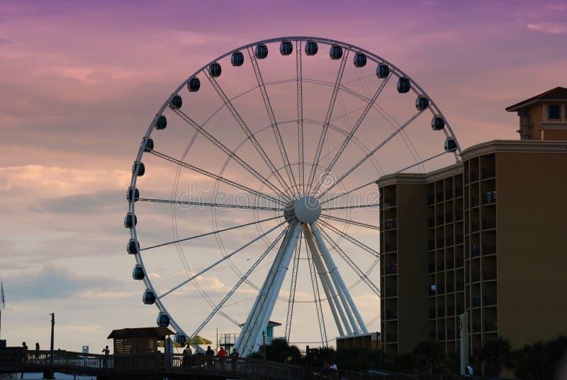 默特尔海滩Skywheel在南卡罗来纳 库存图片