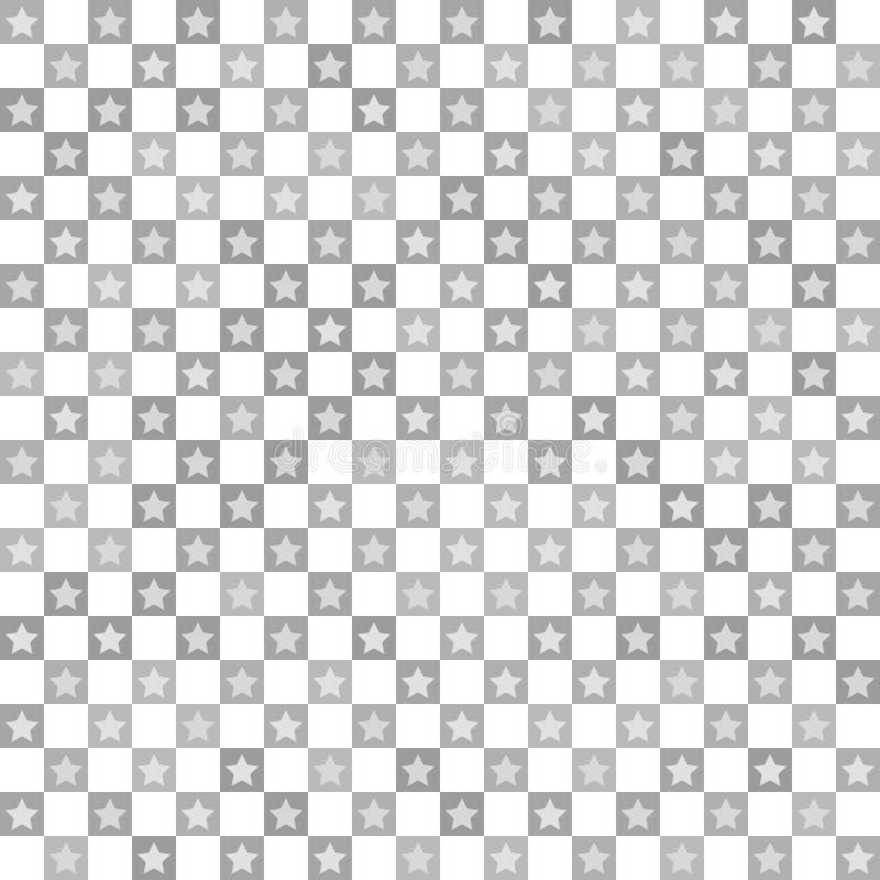 特征模式 无缝的传染媒介棋盘 库存例证