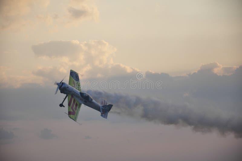 特技飞行飞机展示 库存照片
