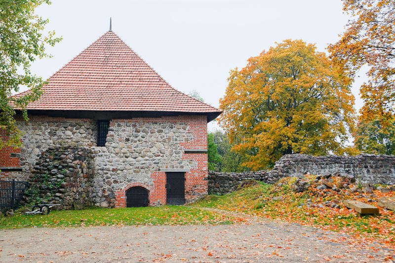 特拉凯半岛城堡  免版税库存图片