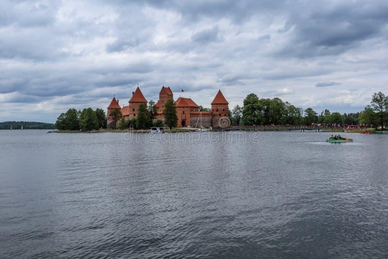 特拉凯城堡在立陶宛 免版税图库摄影