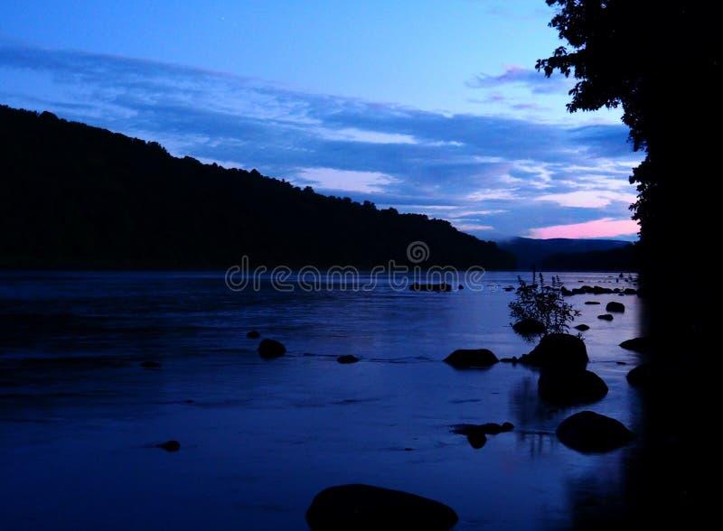 特拉华河在一个美好的夏日 免版税库存图片
