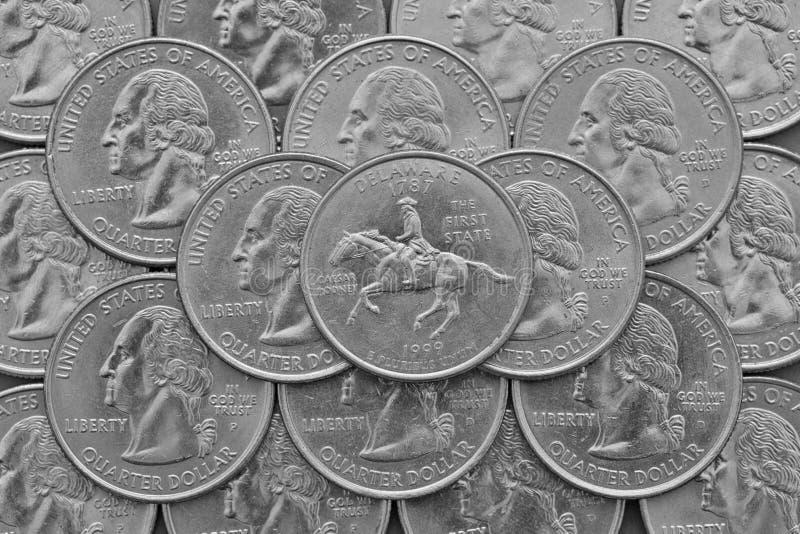 特拉华美国的状态和硬币 图库摄影