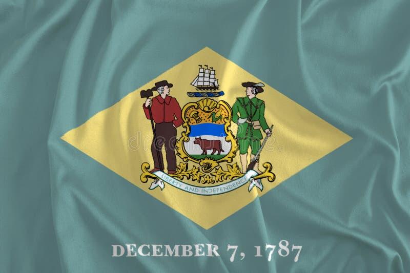 特拉华背景,第一个状态旗子  皇族释放例证