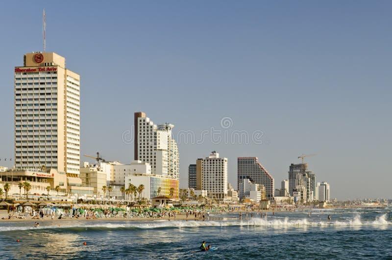 特拉唯夫,以色列- 2011年6月12日 库存图片