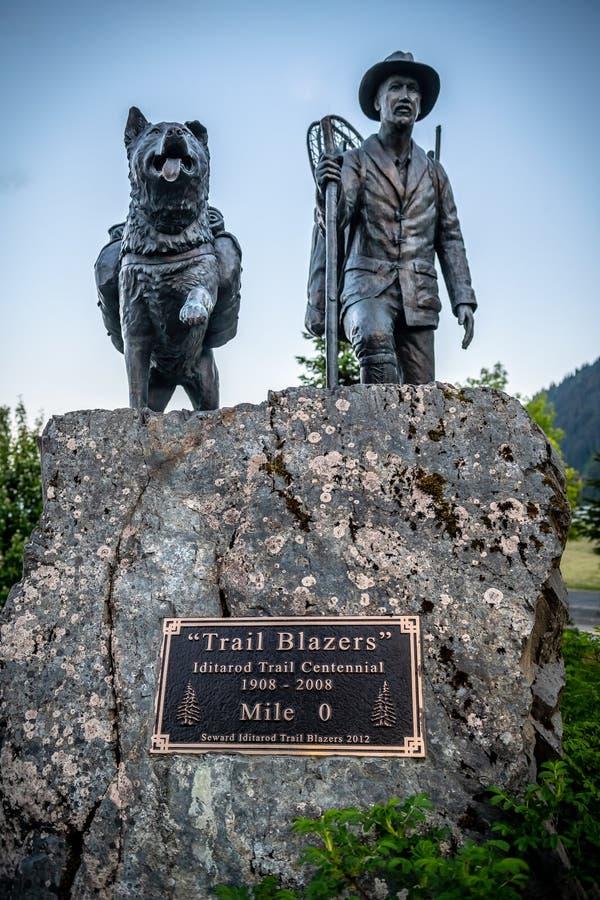 特拉尔·布莱泽斯纪念碑 免版税图库摄影