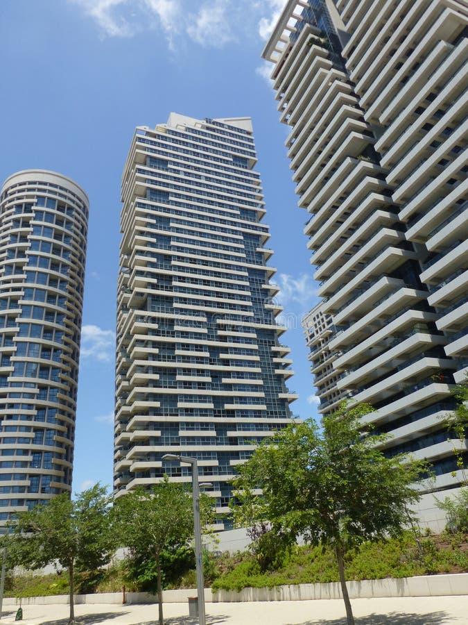 特拉维夫的摩天大楼在以色列 免版税图库摄影