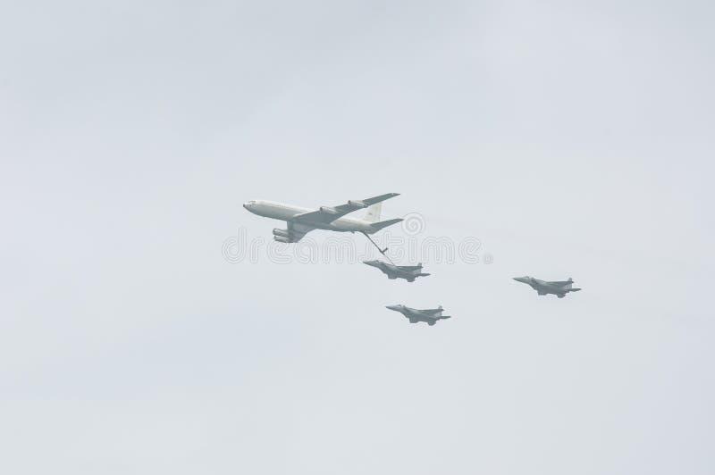特拉维夫,以色列5月2014 6日:以色列人空军队飞机(fighte 免版税库存照片
