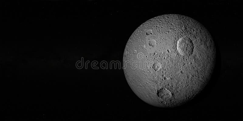 特提斯或土星III 免版税库存图片