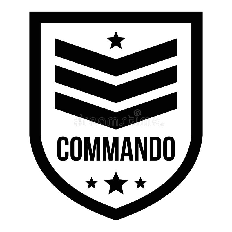 特攻队徽章商标,简单的样式 库存例证