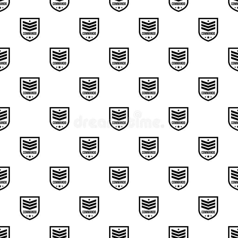 特攻队徽章样式无缝的传染媒介 向量例证