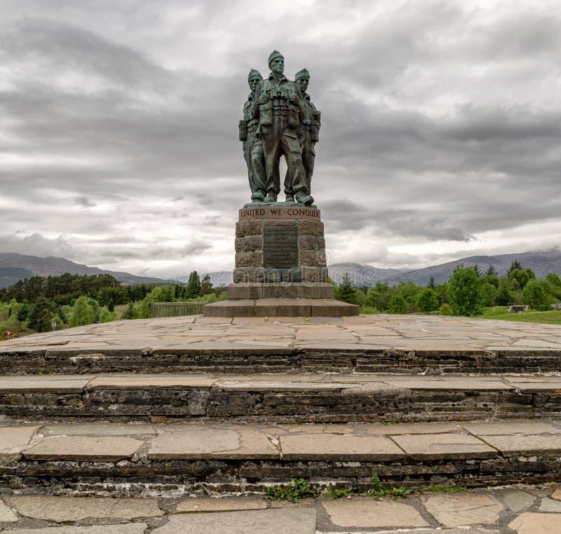 特攻队纪念品在Lochaber,苏格兰 免版税库存图片
