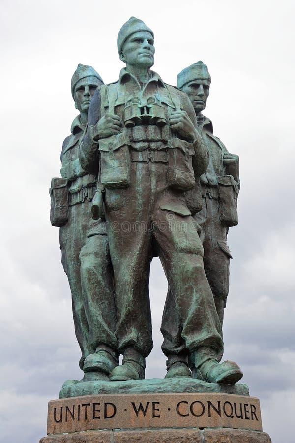 特攻队纪念品, Spean桥梁,苏格兰 库存图片