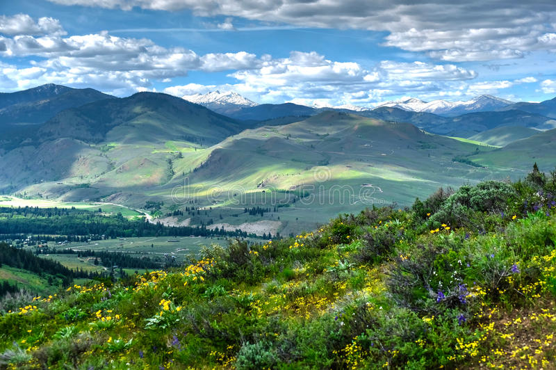 从特森山的绵延山 免版税图库摄影