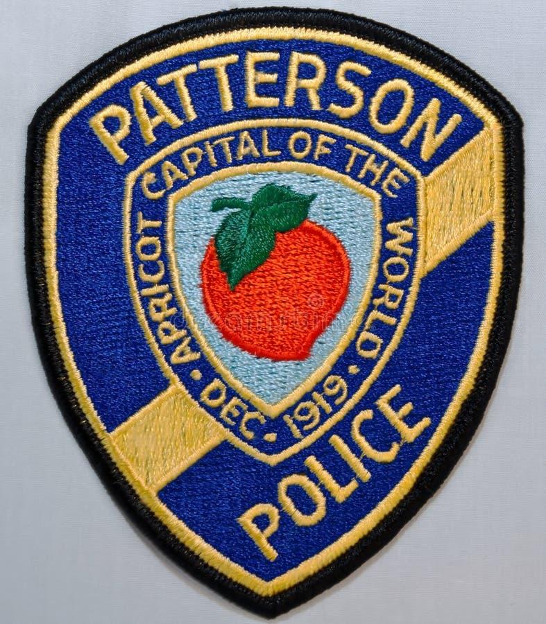 特森警察局的肩章在加利福尼亚 免版税库存图片