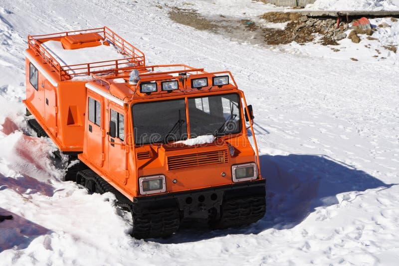 特殊运输通信工具冬天 库存照片