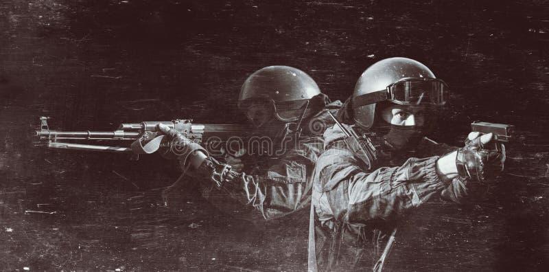 特种部队分裂的成员 免版税库存图片