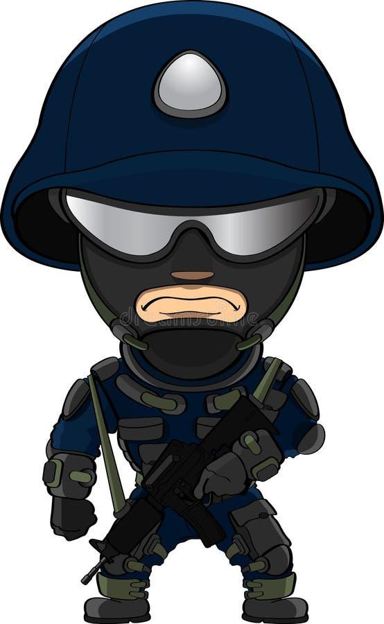特种部队战士 向量例证