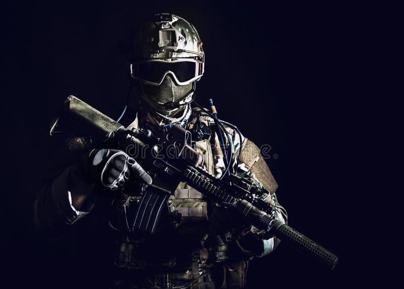 特种部队战士 免版税库存图片
