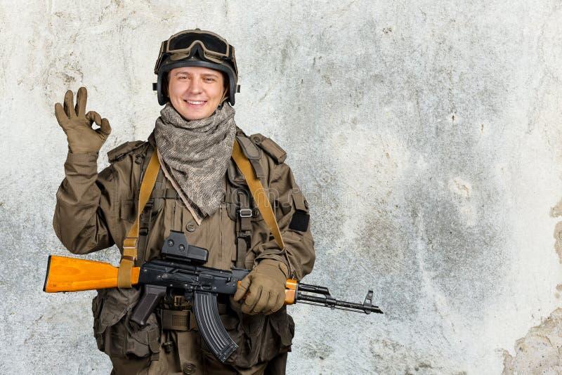 特种部队战士 库存照片