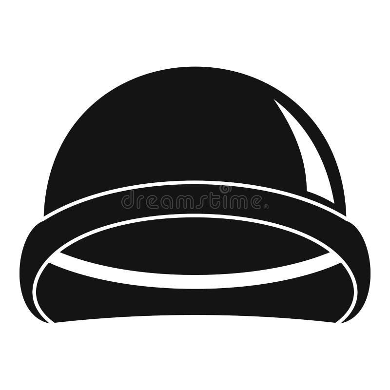 特种部队盔甲象,简单的样式 向量例证
