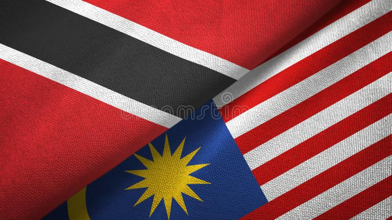 特立尼达和多巴哥和马来西亚两旗子纺织品布料,织品纹理 向量例证