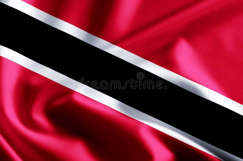 特立尼达和多巴哥旗子例证 库存例证