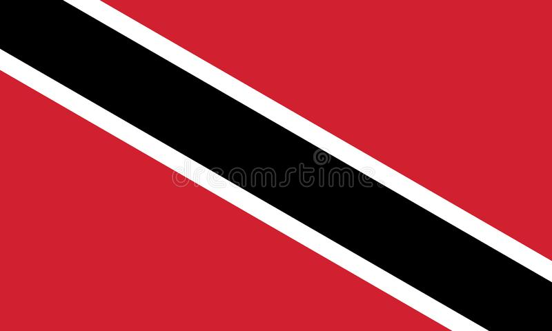 特立尼达和多巴哥旗子的传染媒介图象 基于官员和确切的特立尼达和多巴哥旗子维度&颜色 皇族释放例证