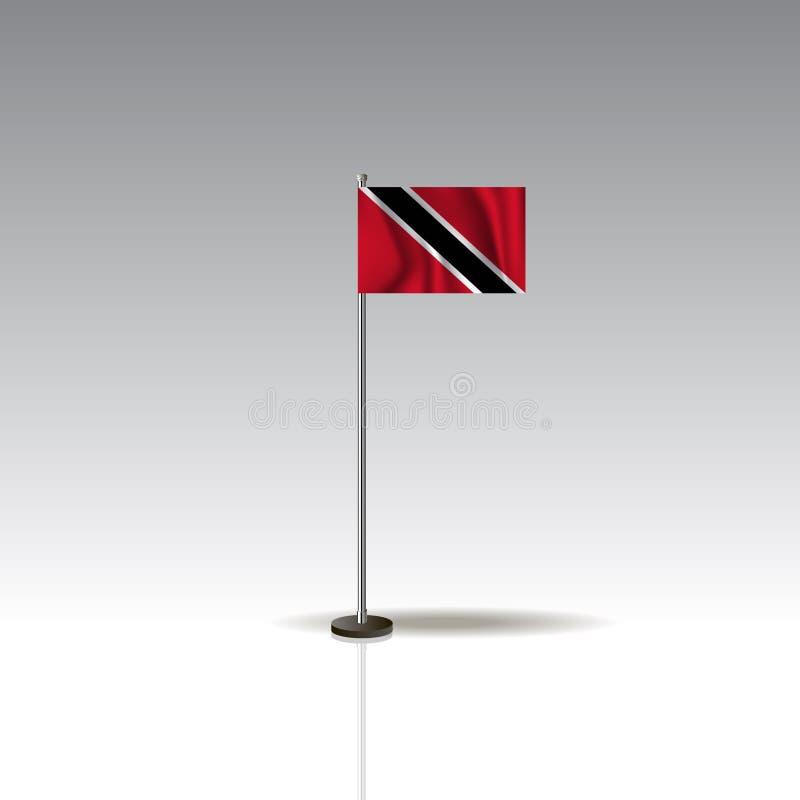 特立尼达和多巴哥的国家的旗子例证 库存例证