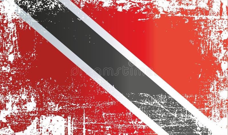 特立尼达和多巴哥的旗子 起皱纹的肮脏的斑点 皇族释放例证